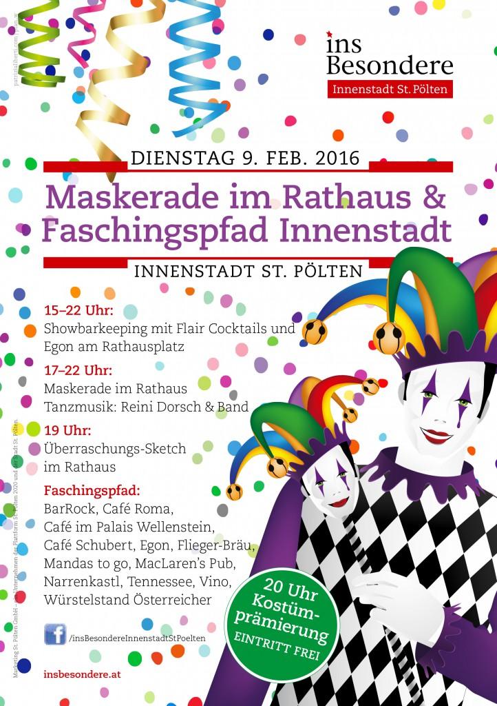 9. Februar 2016: Maskerade & Faschingspfad St. Pölten